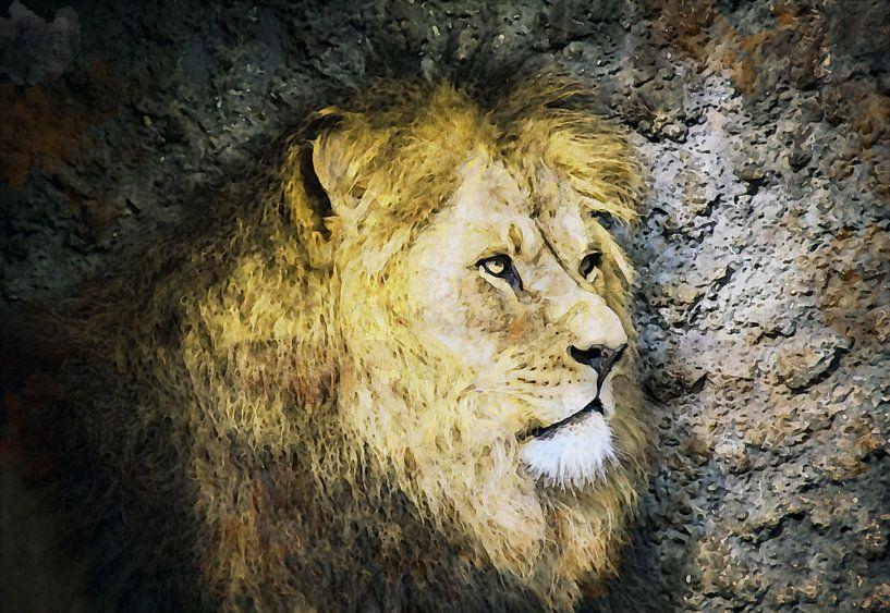 Löwe-Kunstwerk von Peter Bolman