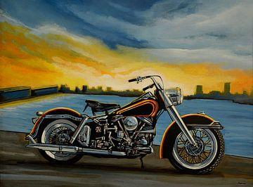 Harley Davidson Duo Glide Gemälde von Paul Meijering
