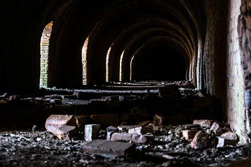 Industriële details van een verlaten Steenfabriek