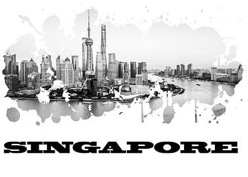 Singapur van Printed Artings