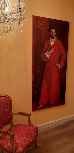 Klantfoto: Dr Samuel-Jean Pozzi, John Singer Sargent (gezien bij vtwonen) van Meesterlijcke Meesters, op canvas