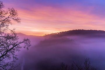Zonsopkomst Burg Eltz van Paul Weekers Fotografie