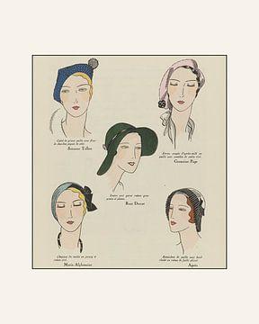 Hoedjes - Vintage, art deco, 1920s, retro, chic, accessoires hoeden van NOONY