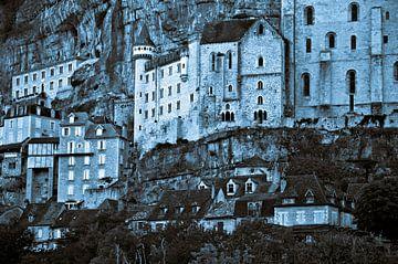 Mittelalterliche Burg in der Pilgerstätte  von Rocamadour von Silva Wischeropp