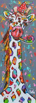 girafe des fêtes sur Corrie Leushuis
