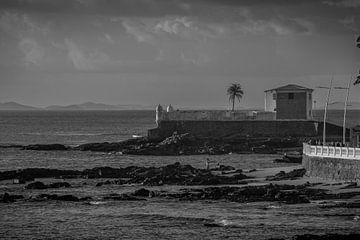 Fort von Santa Maria an der Küste der Stadt Salvador Brasilien von Castro Sanderson