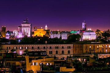 Blick auf Rom am Abend von Ellen Gerrits