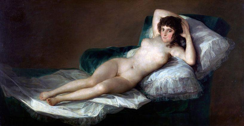 De naakte Maja, Francisco de Goya van Meesterlijcke Meesters