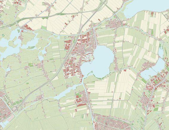 Kaart vanKaag en Braassem