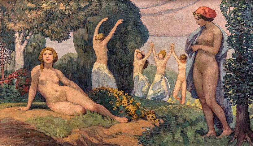 Zur Sommerzeit, Ludwig von Hofmann, 1910 von Atelier Liesjes