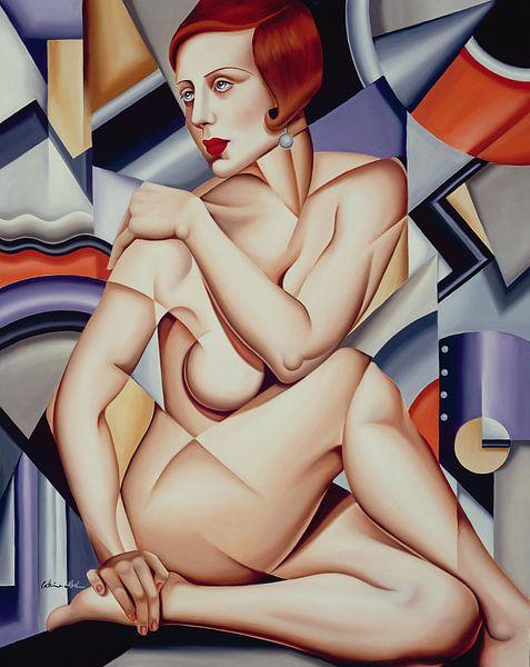 Cubist Nude van Catherine Abel