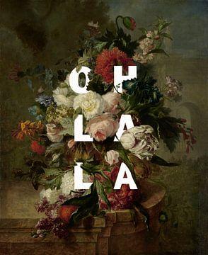 Blumenstrauß alter Meister mit Typographie von Studio POPPY