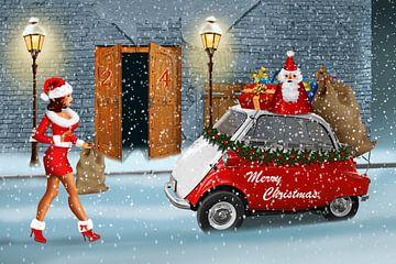 De kerstman kreeg hulp