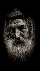 Man met baard van