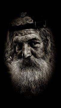 Homme à barbe sur Fotografie Arthur van Leeuwen
