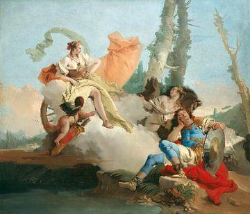 Giambattista Tiepolo, Rinaldo verzaubert von Armida - 1742 - 17745 von Atelier Liesjes
