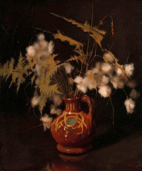 Flauschige Blumen in einem Krug, Willem Witsen von Meesterlijcke Meesters