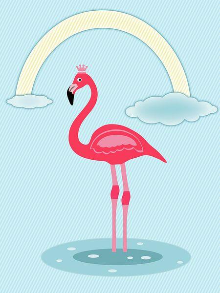 Flamingo roze van Marion Tenbergen