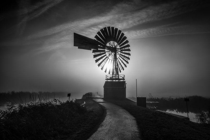 Amerikanische Windmühle von Johanna Blankenstein
