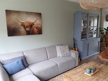 Kundenfoto: Schottischer Hochlandbewohner von Diana van Tankeren, auf leinwand