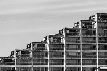 Schwarz-weißes Muster in einer Wohnung von Patrick Verhoef