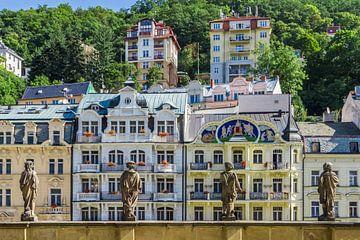 Karlovy vary is een weergave van de mill colonnade van Melanie Viola