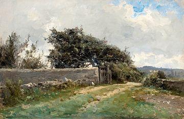 Landschaft von Carlos de Haes, Antike Landschaft