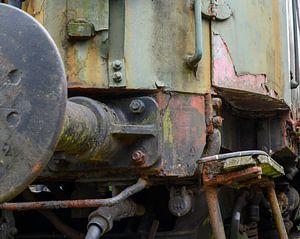 Alter Zug eingestellt auf einen verlassenen Standort