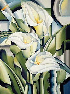 Cubist Lilies van Catherine Abel