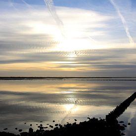 Waddenzee bij Holwerd van Rinnie Wijnstra