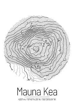 Mauna Kea | Topographie de la carte (minimum) sur City Maps