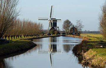 Mühle im Utrechter Dorf Kockengen von Robin Verhoef