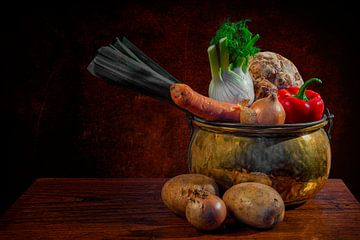 Une nature morte : Légumes sur Carola Schellekens