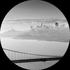 San Francisco behind the bridge van Wim Slootweg