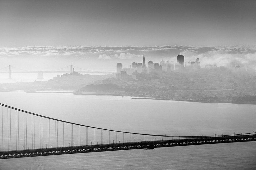 San Francisco derrière le pont sur Wim Slootweg