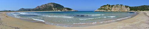 Panoramabaai in Peloponnesos, Griekenland van