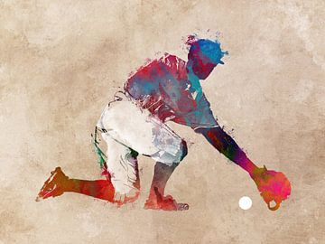 Baseballspieler #Baseball #Sport von JBJart Justyna Jaszke