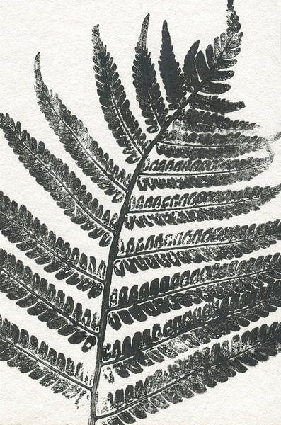 Tropisches Blatt (gesehen in vtwonen) von Vintage en botanische Prenten