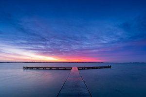 Winterse zonsopkomst in Zeeland van