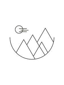 Mountains - Geometrische Print van MDRN HOME