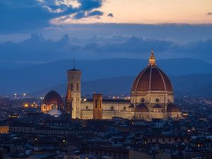 De Duomo van Florence, 's nachts van