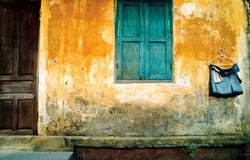 Antike Hauswand - Vietnam van Silva Wischeropp