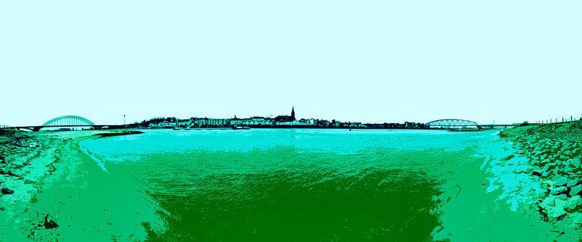 Nijmegen in groen von Maerten Prins