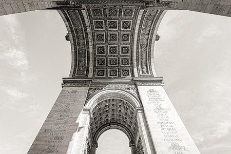 Parijs Arc de Triomphe in perspectief