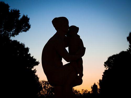 Hilversum, vrouw met kind