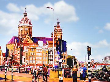 Sint Nicolaaskerk in Amsterdam van Digital Art Nederland