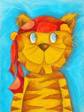 Pirate Kater Lulu - Kunst voor Kinderen