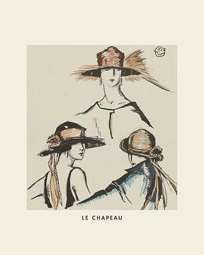 Le Chapeu - boho, fashion, chic, abstracte print van NOONY