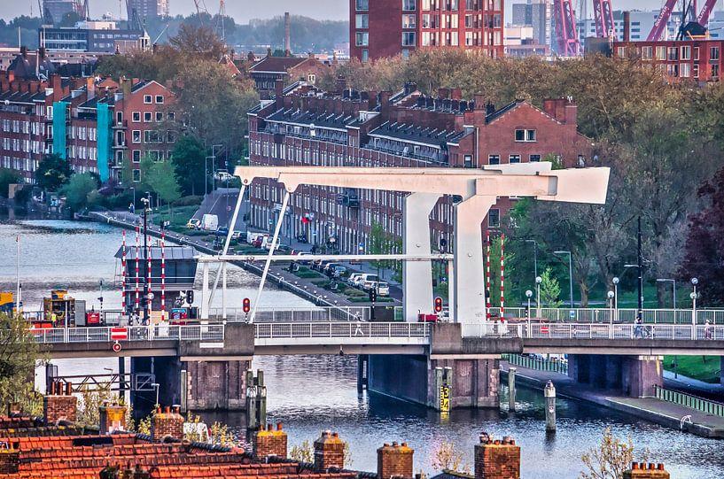 Rotterdam, Mathenesser Brücke von Frans Blok