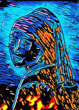 Meisje met de parel. van Jose Lok